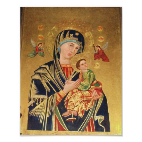 ICON - Virgin and Baby Jesus and angels POSTER
