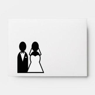 Icon Wedding Couple Envelope