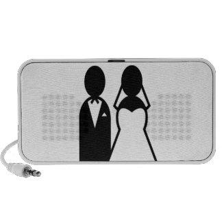 Icon Wedding Couple Portable Speaker