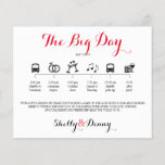 """Icon Wedding Itinerary<br><div class=""""desc"""">Wedding Itinerary Flyer featuring &quot;Infographic&quot; style timeline. Contact Seller before personalization for timeline icon adjustments or additions.</div>"""