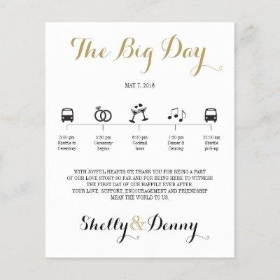 Icon Wedding Itinerary