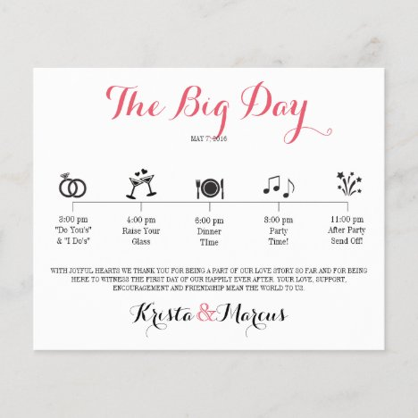 Icon Wedding Itinerary - Destination Wedding