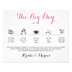 Icon Wedding Itinerary - Destination Wedding Flyer at Zazzle