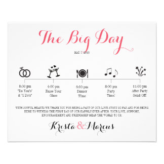Icon Wedding Itinerary - Destination Wedding Flyer