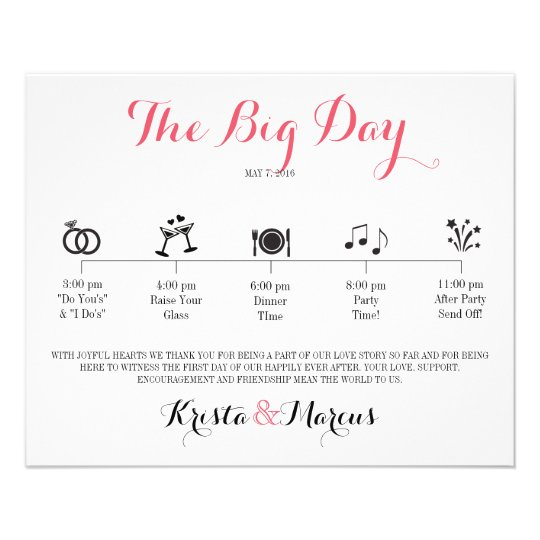 Icon Wedding Itinerary - Destination Wedding Flyer | Zazzle.com