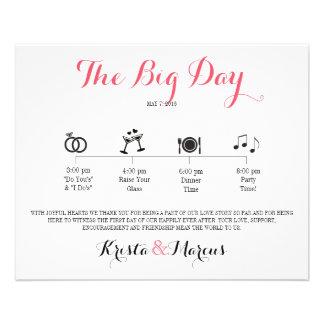 Icon Wedding Itinerary - Destination Wedding Flyer