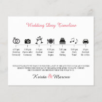 Icon Wedding Timeline Program