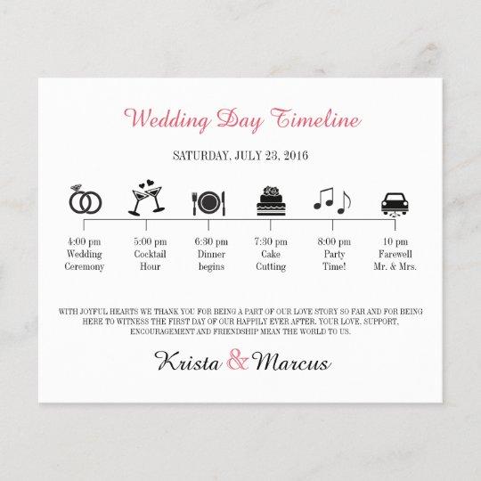 Wedding Invitation Timeline: Icon Wedding Timeline Program
