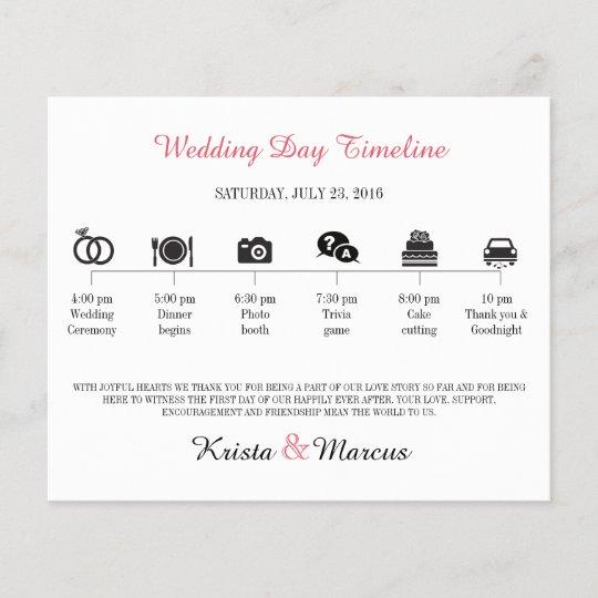 icon wedding timeline program zazzle com