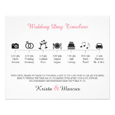 Icon Wedding Timeline Program Flyer at Zazzle
