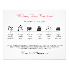 Icon Wedding Timeline Program Flyer at Zazzle