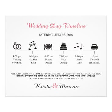 goskell Icon Wedding Timeline Program Flyer