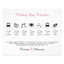 Icon Wedding Timeline Program Flyer