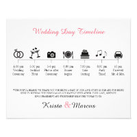 Icon Wedding Timeline Program Flyer