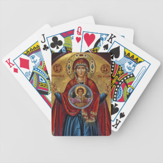 Iconic 15th Century Mary with Christ Child Bicycle Playing Cards
