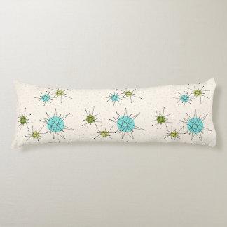 Iconic Atomic Starbursts Body Pillow