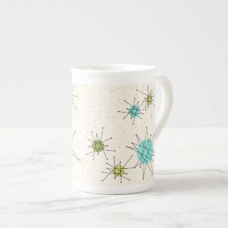 Iconic Atomic Starbursts Bone China Mug