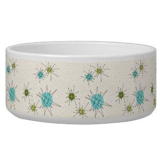 Iconic Atomic Starbursts Ceramic Pet Bowl