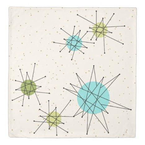 Iconic Atomic Starbursts Duvet Cover