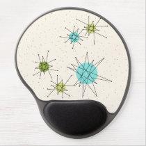 Iconic Atomic Starbursts Gel Mousepad