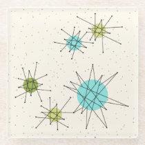 Iconic Atomic Starbursts Glass Coaster