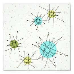 Iconic Atomic Starbursts Invitation