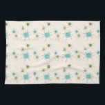 """Iconic Atomic Starbursts Kitchen Towels<br><div class=""""desc"""">This Iconic Atomic Starbursts Kitchen Towels pattern features iconic atomic starbursts. That's right! The old school, cream colored background with gold speckles is the perfect backdrop for the vibrant turquoise, soothing celery, and kitschy pear green colored circles. The spots of color are sporadically placed in various sizes with overlaying black...</div>"""