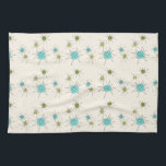 "Iconic Atomic Starbursts Kitchen Towels<br><div class=""desc"">This Iconic Atomic Starbursts Kitchen Towels pattern features iconic atomic starbursts. That's right! The old school, cream colored background with gold speckles is the perfect backdrop for the vibrant turquoise, soothing celery, and kitschy pear green colored circles. The spots of color are sporadically placed in various sizes with overlaying black...</div>"