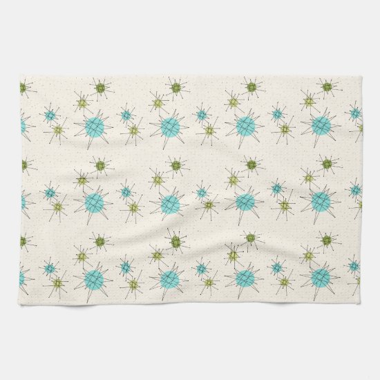 Iconic Atomic Starbursts Kitchen Towels