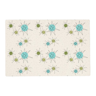 Iconic Atomic Starbursts Laminated Placemat