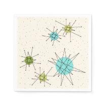 Iconic Atomic Starbursts Paper Napkins