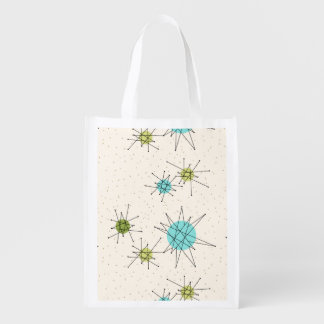 Iconic Atomic Starbursts Reusable Grocery Bag