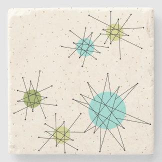 Iconic Atomic Starbursts Stone Coaster