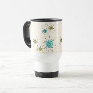 Iconic Atomic Starbursts Travel Commuter Mug