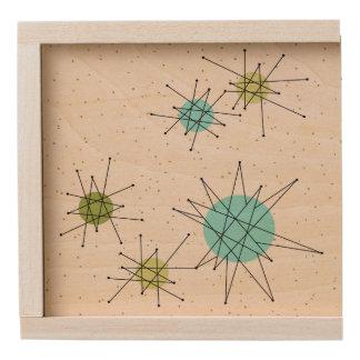 Iconic Atomic Starbursts Wood Keepsake Box