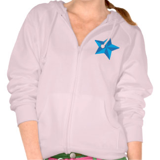 Iconic Blue Star Hooded Pullover