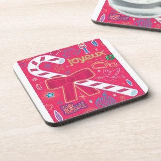 Iconic Candy Cane Beverage Coaster
