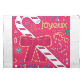 Iconic Candy Cane Cloth Placemat