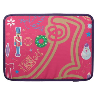 Iconic Candy Cane Sleeve For MacBook Pro