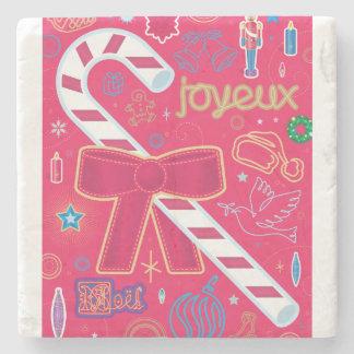 Iconic Candy Cane Stone Coaster