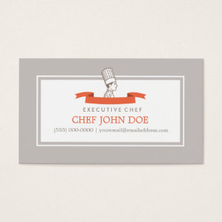 Iconic Chef Business Card for Him