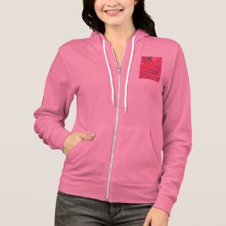 Iconic Christmas Illus Women's Fleece Zip Hoodie