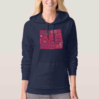 Iconic Christmas Illus Women's Pullover Hoodie