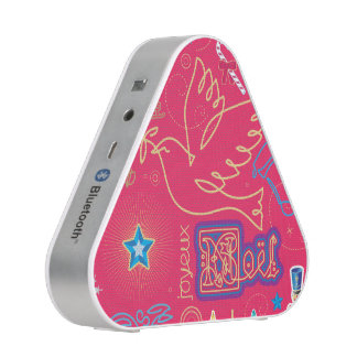 Iconic Christmas Illustration Bluetooth Speaker