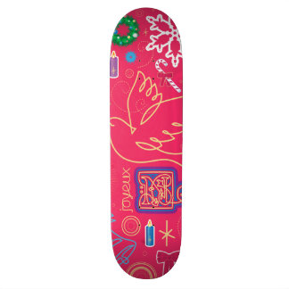 Iconic Christmas Illustration Skateboard
