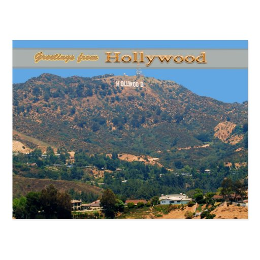 Iconic Hollywood Sgn Postcards