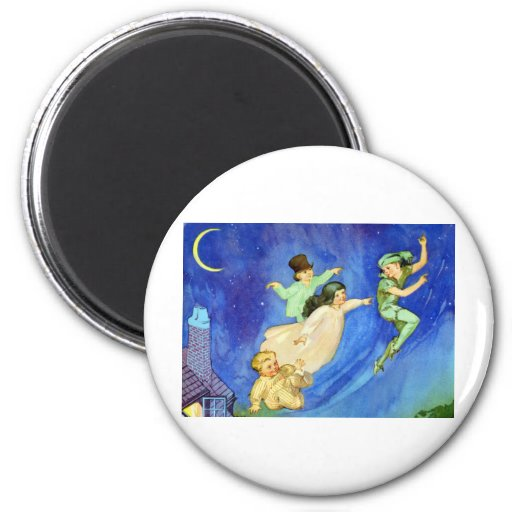 ICONIC IMAGE FROM PETER PAN 2 INCH ROUND MAGNET