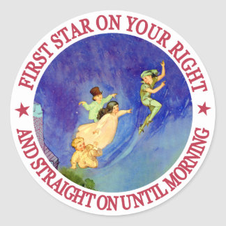 ICONIC IMAGE FROM PETER PAN CLASSIC ROUND STICKER