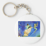 ICONIC IMAGE FROM PETER PAN BASIC ROUND BUTTON KEYCHAIN