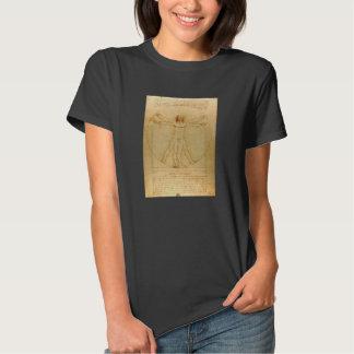Iconic Leonardo da Vinci Vetruvian Man T-Shirt